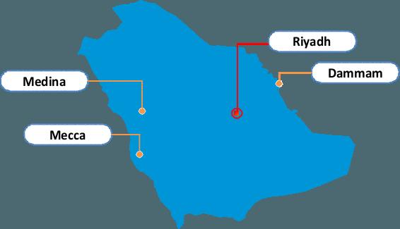 Saudi Arabia Regional Offices - image KSA on https://avario.ae